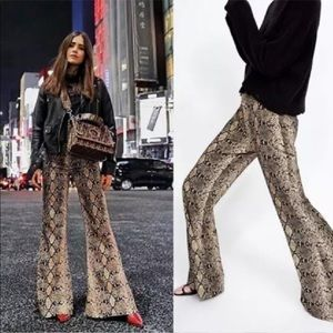 Zara snake print pants